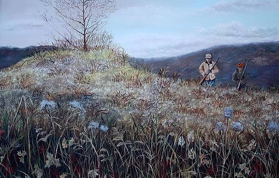 Father and Son Hunting by Judy Groves