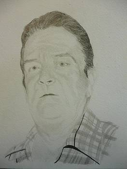 Father Memorial Drawing 9 x 12 inches Portrait U Provide Picture by Pigatopia by Shannon Ivins