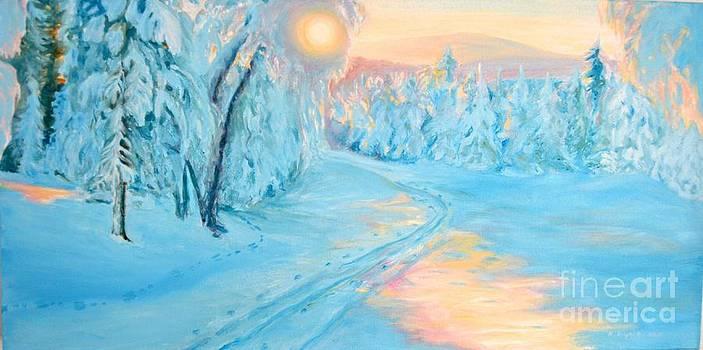 February Sun by K Art