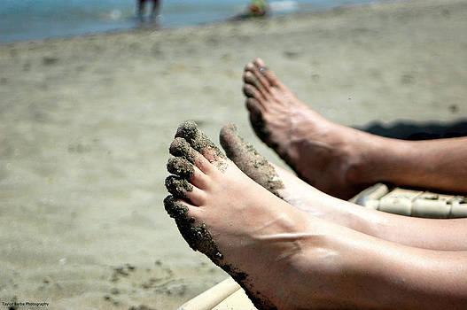 Feet on the Beach by Taylor Barba