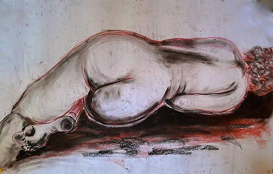 Female Nude Sleeping by Gregory Merlin Brown