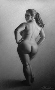 Female Nude Standing by Eric Bossik