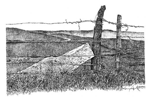 Fenceposts 3 by Gary Gackstatter