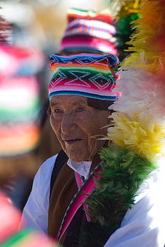 Festival of music and traditional dance. Population of Compi. Republic of Bolivia. by Eric Bauer