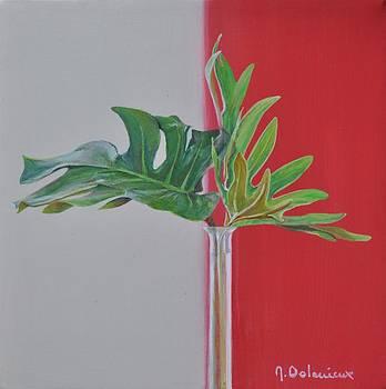 Feuilles Vertes by Muriel Dolemieux