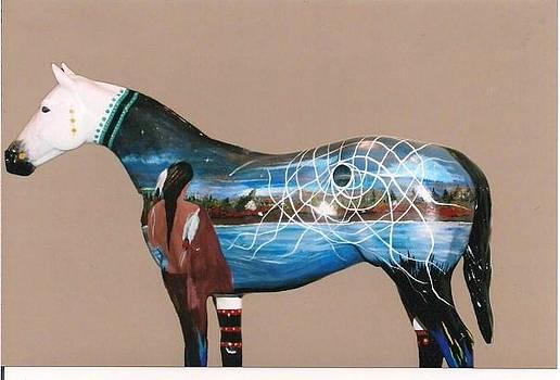 Fiberglass Horse by Mickey Patrick