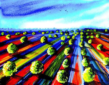 Fields of Trees                   by Artist Singh