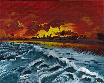 Fiery Skies and Deep Blue Seas by Beverly Marshall