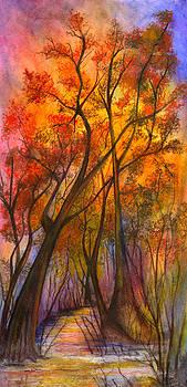 Fiery Sunset by Elaine Hodges
