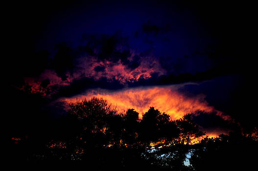 Fiery Sunset by Frank DiGiovanni