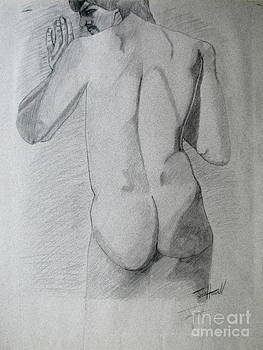 Figure Study on Gray Paper by Julie Coughlin
