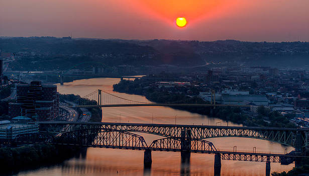 David Hahn - Fire in the Sky over the Monongahela River
