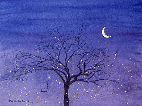 Fireflies and Moon by Sharon Farber