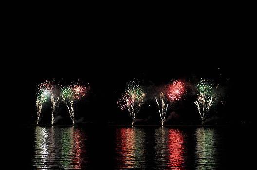 Fireworks - Lake Champlain by Jeff Moose