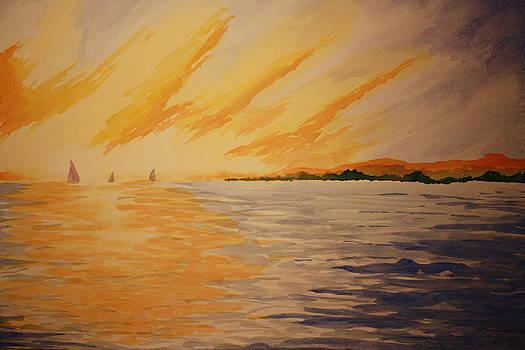 Firey Sunset by Jeff Lucas