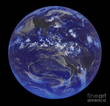 Padre Art - First GOES Satellite Image of Earth 2008