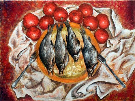 Fish and Tomatoes by Vladimir Kezerashvili