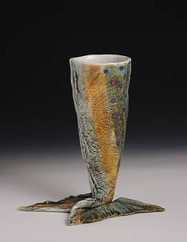 FIsh Wine Goblet by Mark Chuck