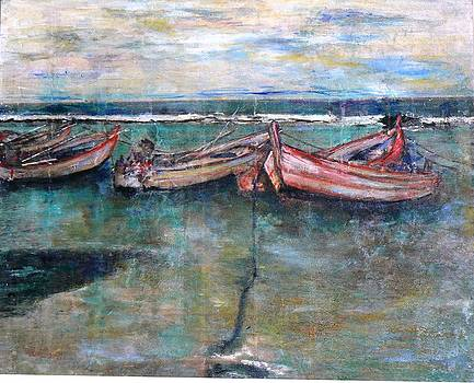 Fishers Boats by Baruch Neria-Kandel