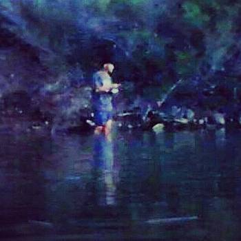 Fishing at dawn by Denise Tanaka