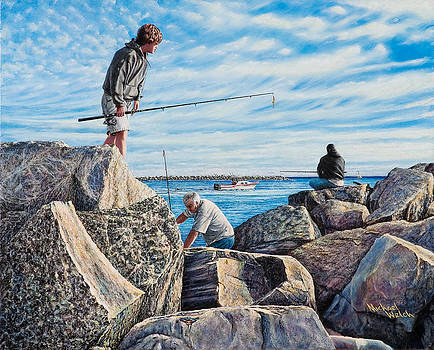 Fishing at the Jetties by Michael Welch