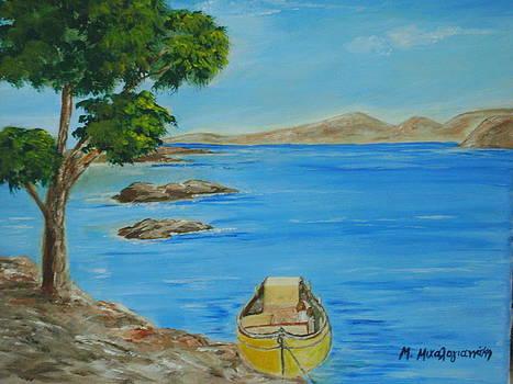 Fishing boat by Manolia Michalogiannaki