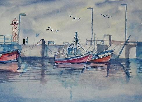 Fishing Boat by Shashikanta Parida