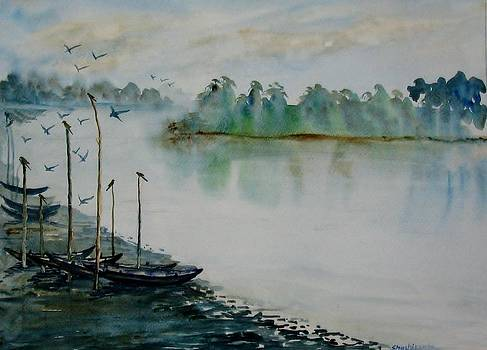 Fishing boats 002 by Shashikanta Parida
