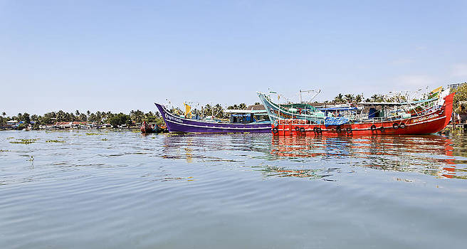 Kantilal Patel - Fishing Boats Kochin Backwater