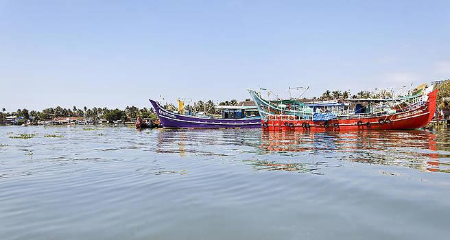 Kantilal Patel - Fishing Boats Kochin Backwater