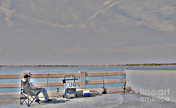Fishing in St. Augustine by Diane Stresing