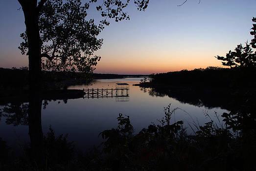 Fishing Pier at Dawn by Cindy Rubin