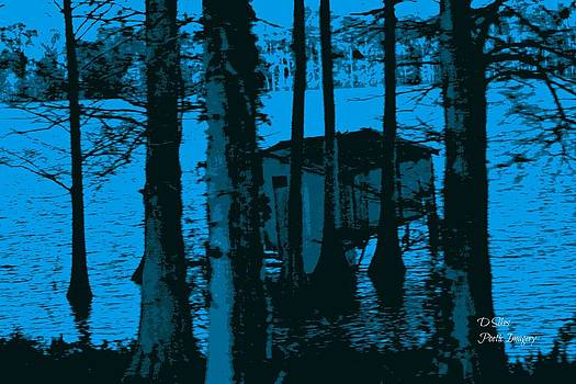 Fishing Shack in Blue by Debbie Sikes