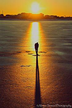 Fishing sunset by Aliman  Samuel