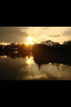 Fishing Sunset by Emma Sechrest