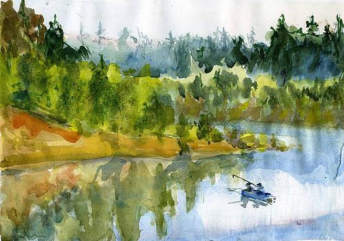 Fishing Time by Lelia Sorokina