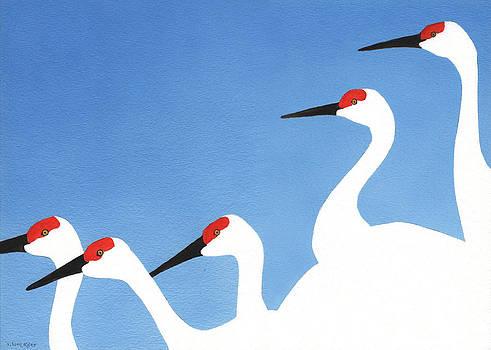 Five Cranes by A Leon Miler