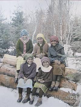 Five Little Native Girls by Laurel Anderson-McCallum