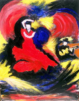 Flamenco Dancer by Ted Hebbler