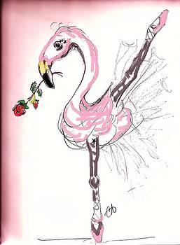 Flamenco Flamingo by Carol Allen Anfinsen