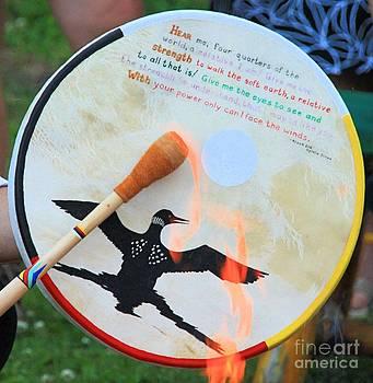 Roland Stanke - flames on drum