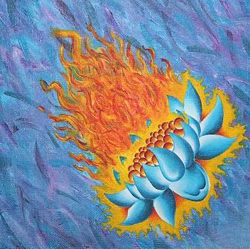 Flaming Lotus by Landon Clary