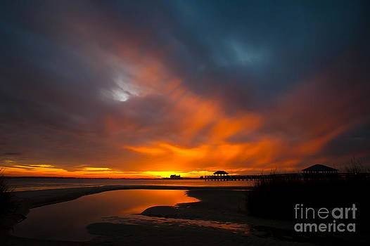 Flaming Sunset by Joan McCool