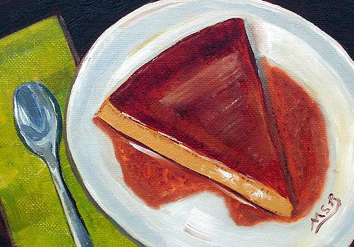 Flan oil painting by Maria Soto Robbins