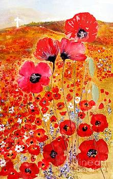 Flanders Poppies by Sibby S