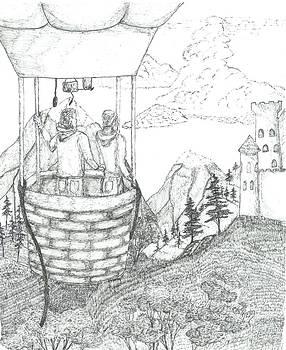 Flight Of Fancy - Sketch by Robert Meszaros