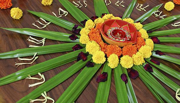 Kantilal Patel - Floral Display Hindu Festival