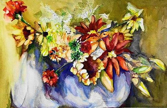 Flower Basket by Claire Sallenger Martin