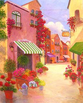 Flower Shop on Serta St. by Jeanene Stein