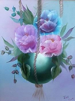 Flowers in a Pot by Jan Fink